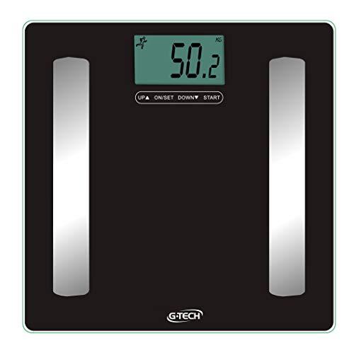Balança Medição de água, gordura, massa muscular e massa óssea mod.: Glass PRO, G-Tech