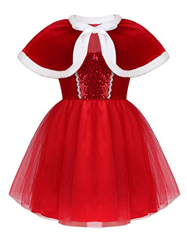 Mufeng Kids Girls Christmas Outfits Santa Claus Costumes Mrs Claus...