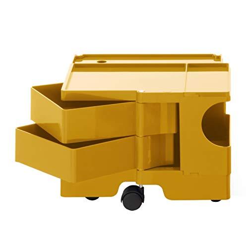 Boby XS 12 Rollcontainer, honiggelb Pantone 7550 2 Schubkästen BxHxT 43x31,5x42cm Neue Farbe 2019