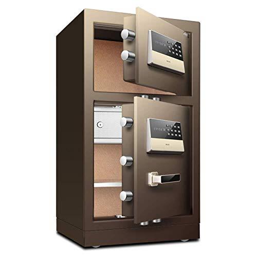NewbieBoom Digital Safe - Caja Fuerte (43 x 38 x 80 cm, Caja Fuerte electrónica, 2 Bolsillos para Llaves, para casa, Negocios o Viaje)