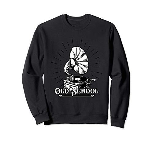 Old school tourne-disque vinyle gramophone vintage Sweatshirt
