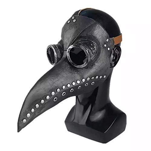 WXG1 Punk-Brille Gasmaske, Pest-Doktor Maske, Lange Nase Bird Beak Crow Maske, Cosplay Zubehör Dampf Kostüm Requisiten, Benutzt Für Halloween/Ball Prom,3