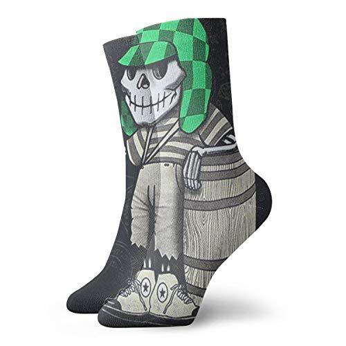Shannahatten Socks El Chavo Del Ocho Dia De Los Muertos Shirt Sugar Skull Chespirito Compression Socks For Men & Women- Athletic Fit- Best For Running,Sport,Nurse,Travel,Cycling