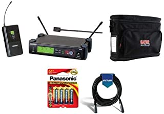 Shure SLX14/93-G5 Wireless Microphone System with SLX1 Transmitter, SLX4 Receiver, WL93 Lavalier Mic, G5 Band/494-515 MHz - Bundle with Gator GM-1W System Bag, 20' XLR Mic Cable, 4xAA Batteries