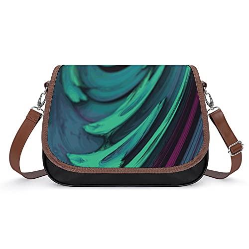 Bolso de hombro de las mujeres y monederos ligero Crossbody Bag Messenger Bag,Tinta de acuarela, Blanco-estilo-4, Talla única