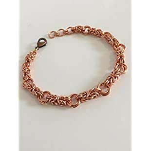 Customer reviews Copper Anniversary Jewellery Gift Byzantine Love Knot Chainmaille Bracelet for Women Birthday Idea:Eventmanager