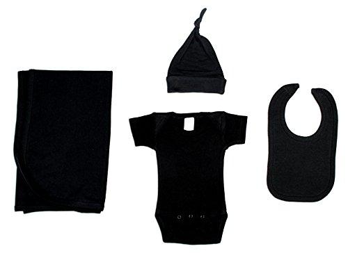 Bambini - Juego de 4 piezas para recién nacidos, color negro