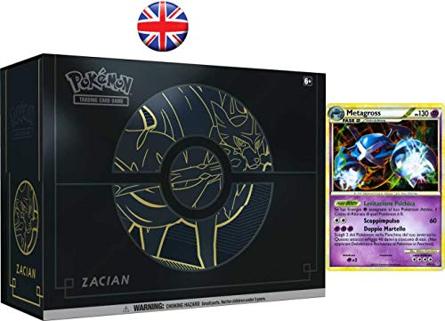 LEONARDO SERVIZI SAS DI Bergamin Catia & C. Pokemon Sword And Shield Elite Trainer Box Plus Zacian + Carta Promo Metagross