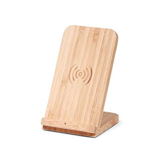 Brainz Draadloze standaard oplader Bamboo