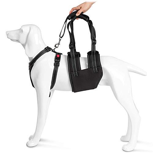 Ownpets Hund Lift Support Rehabilitation Geschirr Mobilität Sling Geschirr mit Griff für Old Behinderungen oder Arthritis Verletzte Hunde und schwache Hinterbeinen Gelenke der Operation Young Welpen