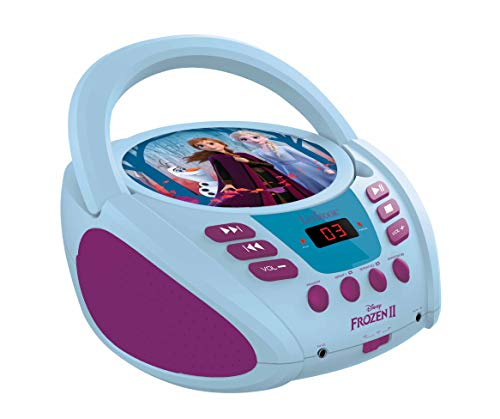 Lexibook Disney Frozen Elsa CD player, aux-in jack, AC or battery-operated,...
