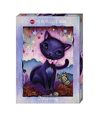 Heye- Black Kitty Puzle, Multicolor (HY29687)