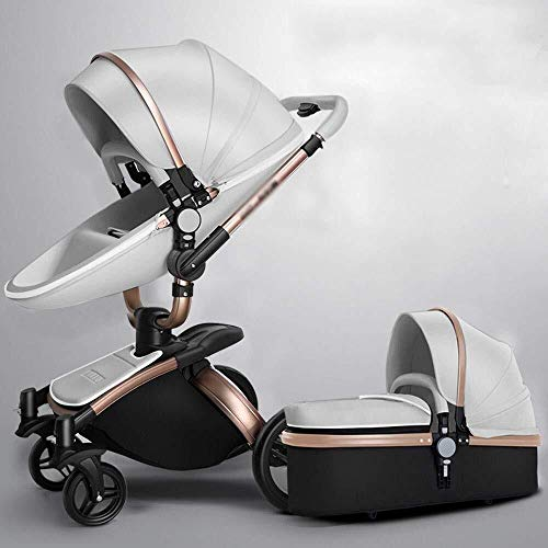 Best Bargain TZZ 2 in 1 Baby Stroller 360 Rotation High Landscape Luxury Infant Buggy with 5-Point H...