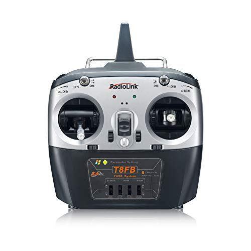 Radiolink T8FB 2.4ghz 8 Channels RC Radio Transmitter and Receiver R8EF Dual Stick Controller for FPV Airplane Boat Car Robot and More (Mode 2)