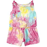 The Children's Place Baby Girls' Tie Dye Romper