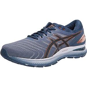 ASICS Men's Gel-Nimbus 22 Shoes, 10, Glacier Grey/Graphite Grey
