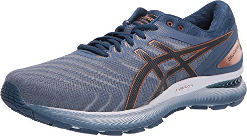 ASICS Men's Gel-Nimbus 22 Shoes, 10.5M, Glacier Grey/Graphite Grey