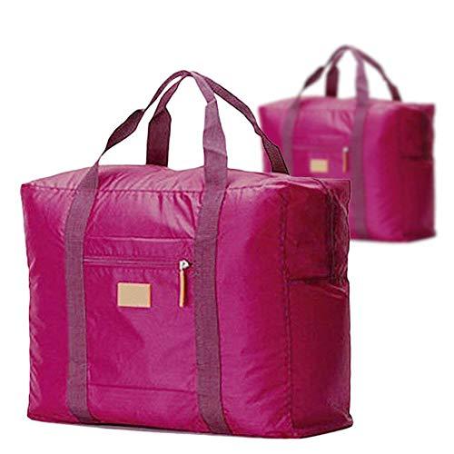 Fliyeong - Bolsa de equipaje de mano, ligera, plegable, de nailon, para ropa de viaje, impermeable,...