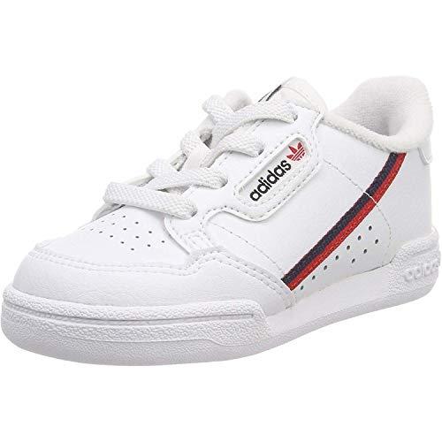 adidas Continental 80 i, Scarpe Sportive Unisex-Bambini, Bianco (Cloud White/Scarlet/Collegiate Navy), 20 EU