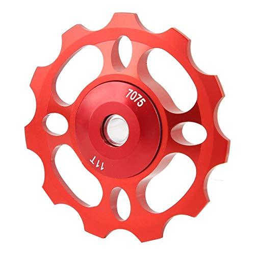 SALUTUYA Polea de Cambio de Alta lubricidad Aleación de Aluminio CNC de Alta Resistencia, para Montar, para Bicicleta de montaña(Red, 11T)