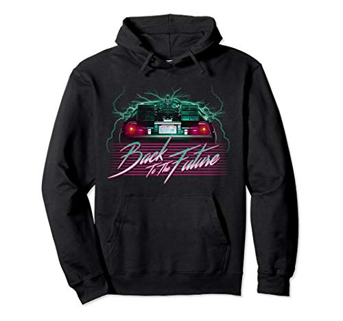 Back To the Future DeLorean 80's Style Neon Graphic Hoodie, Unisex, 3 Colors, S to 2XL