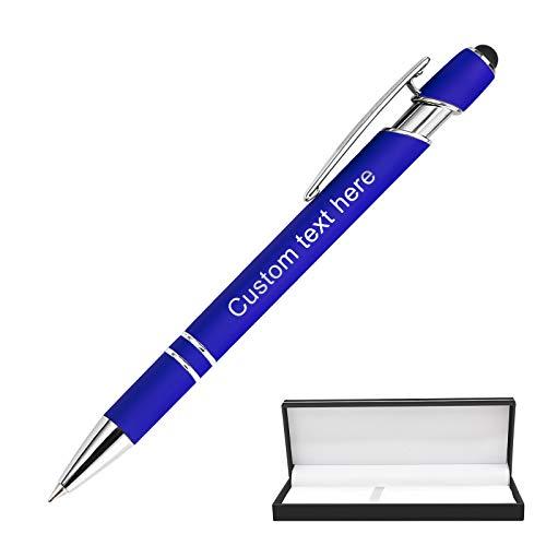 Bolígrafos Personalizables,Bolígrafos Personalizados con nombre, Metal Suave Al Tacto, Introduzca El Logotipo o El Mensaje,Pluma multicolor de doble uso, regalo personalizado Tinta Negra - Uno