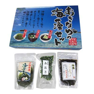 おきなわの海藻セット×3箱 島酒家 ・海ぶどう・太もずく・アーサを厳選 沖縄の海の幸セット
