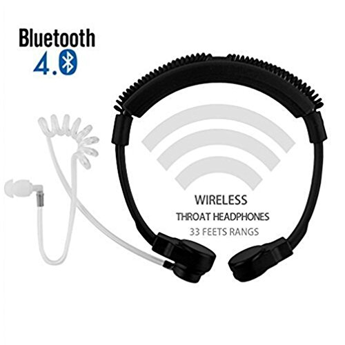 Cheapest Price! Cool Wireless Bluetooth 4.0 Adjustable Throat Vibrate Mic Microphone, Anti-Noise Tac...