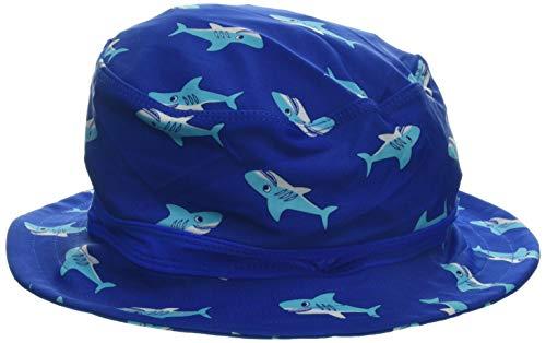 Playshoes Jungen UV-Schutz Fischerhut, Bademütze Hai Mütze, Blau (Blau 7), 55 (Herstellergröße: 55cm)