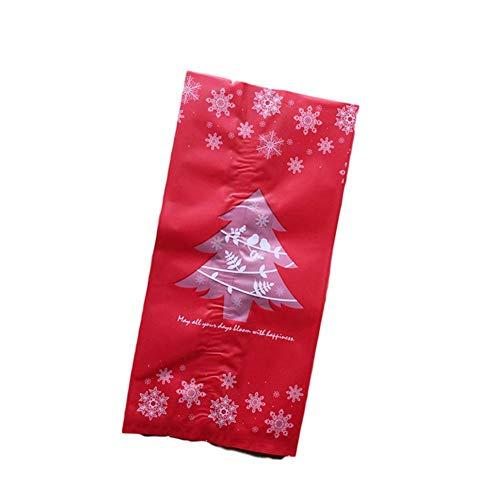 AGAWA 50 Stück Weihnachten Keks Süßigkeiten Paket Zellophan Geschenk Taschen für Hochzeit Geburtstag