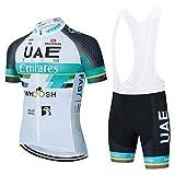 Maillots De Ciclismo Hombres Camiseta Y Pantalones Cortos De Ciclismo Conjunto De Ropa para Ciclismo Al Aire Libre (A-2,XXXL)