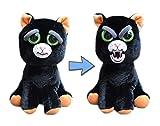 Feisty Pets William Mark Black Cat: Katy Cobweb Stuffed Attitude Plush Animal