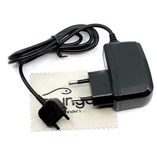 Cargador para Sony Ericsson K610i, K618i, K630i, K660i, K750i, K770i, K790i, K800i, K810i, K850i, M600i, M608i, Naite J105, P1i, R300i 1A OTB con Tela de Limpieza de la Pantalla de mungoo