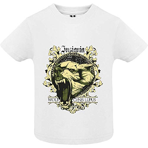 LookMyKase T-Shirt - Canis Lupus - Bébé Garçon - Blanc - 2ans
