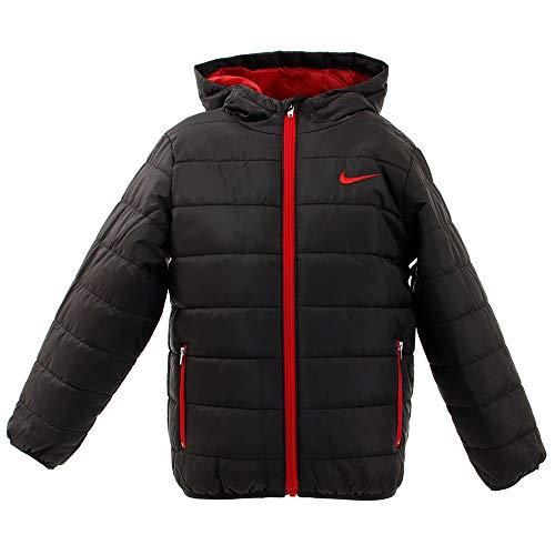 Nike Kids Boy's Quilted Jacket (Little Kids) Black 7 Little Kids