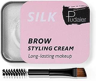2Pcs Soap Brow Styling Kit, 3D Eyebrow Setting Gel with Eyebrow Brush Long Lasting Waterproof Eyebrow Styling Cream Cosmetics