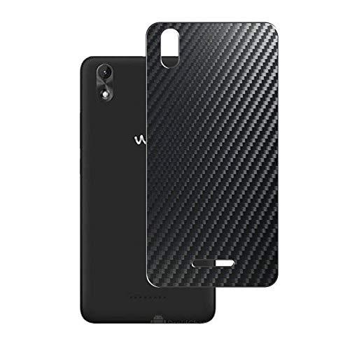Vaxson 2 Unidades Protector de pantalla Posterior, compatible con Wiko Lenny4 Plus 2017 / Lenny 4 Plus, Película Protectora Espalda Skin Cover - Fibra de Carbono Negro