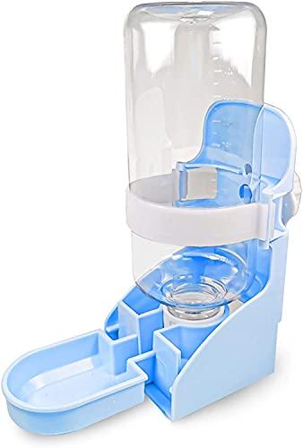 Dulcicasa Dispensador de agua automático para mascotas, 500 ml, para colgar, dispensador de agua para mascotas para perros y gatos, cobayas, chinchillas, conejos (azul)