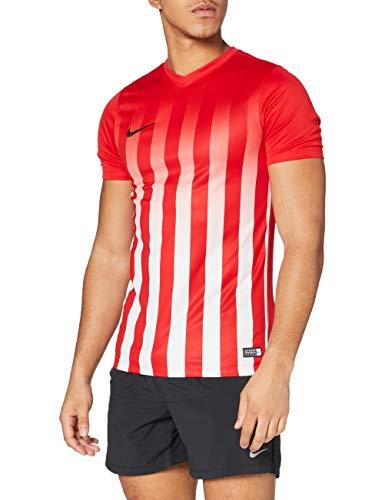 NIKE SS Striped Division II JSY Camiseta del Fútbol, Rosso_Nero_Bianco, XL para Hombre