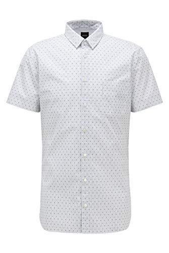 BOSS Magneton_1-Short Camisa, Blanco (Natural 101), Large para Hombre