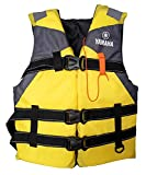 Life Jackets for Adults Boating Jacket Outdoor Sports Vest,Water Sport Boating Jacket,Buoyancy Waistcoat Water Sports Lightweight Accessories for Sailing Surfing Kayaking Suit for Adults (Yellow)