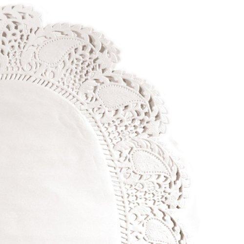Garcia de Pou 20 unité Napperon Ovale en boîte, Litos, Blanc, 30 x 30 x 30 cm