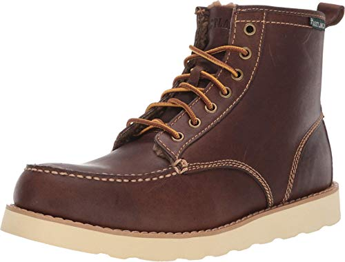 Eastland 1955 Edition Men's Lace Up Boots, Shearling Lined Dark Tan, 8