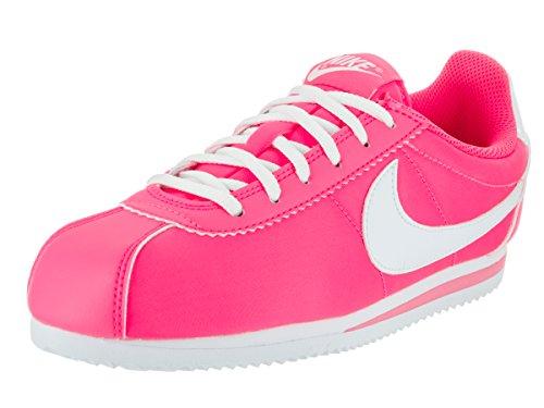 Nike Mädchen Cortez Nylon (GS) Laufschuhe, Rosa/Blanco (Hyper Pink/White), 38 1/2 EU