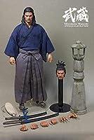1/6スケール宮本武蔵アクションフィギュア12インチの日本の剣士兵士モデルのおもちゃコレクション、アート、写真用