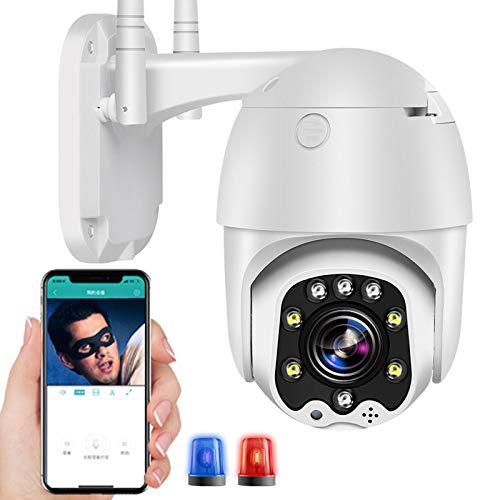 AINSS Cámara IP de Vigilancia Exterior 3G/4G LTE PTZ 355°/90° Detección de Movimiento Visión Nocturna en Color 30M High-Definition 1080P Cámara Exterior IP66 Impermeable ONVIF Granja Pastar 【Cámara】
