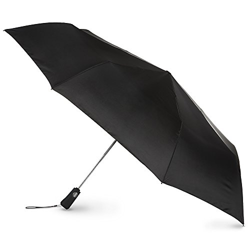 totes Automatic Open Close Large Canopy Golf Umbrella, Black