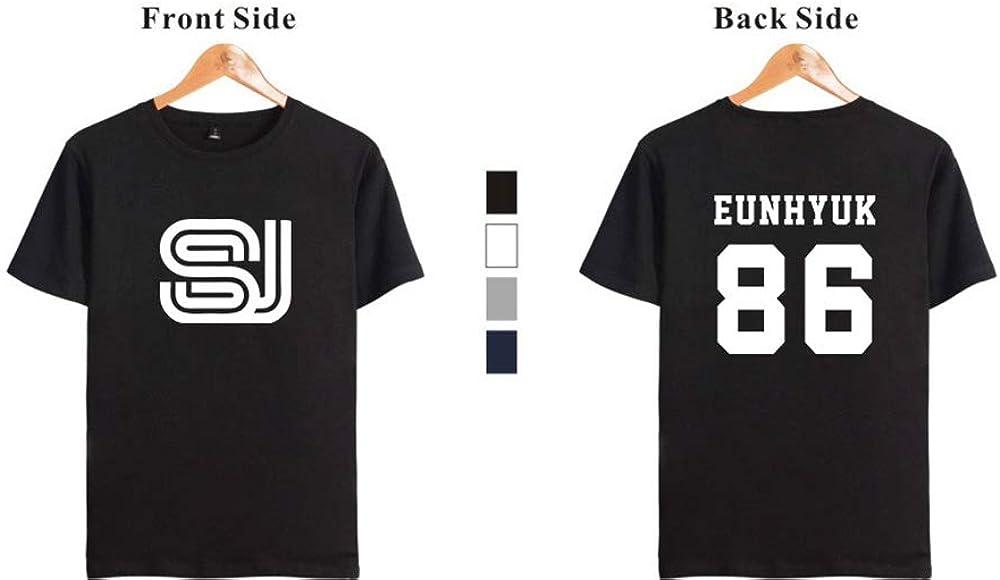 KPOP Super Junior Camisetas de Manga Corta Impresión de ...