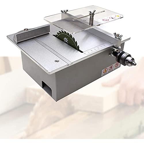 Sierra de mesa portátil de sobremesa, Mini Desktop Circular SA wiy MOTICO MAZÓN SAWUAL MOTORTY PROFUNDIDAD 0-30mm, velocidad continua Reglatura pulida, tallada, perforada para BRICOLAJE Modelismo , Má