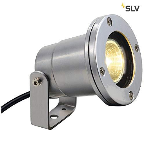 spot extérieur slv nautilus - g5.3 - 35 watts - ip67 - gris argent